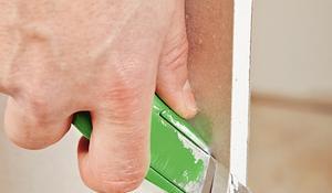 KROK VII - Fazowanie krótszych krawędzi ścianki
